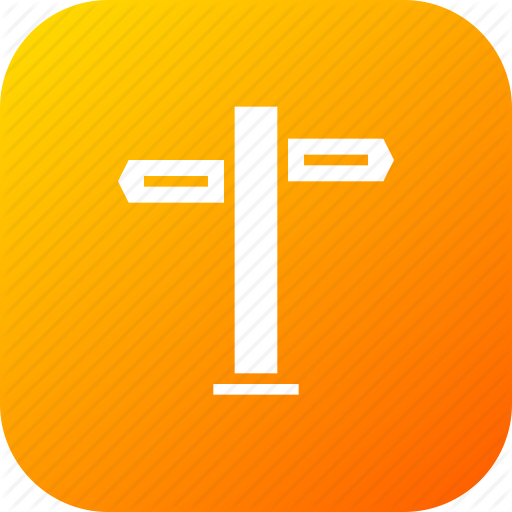 Guide, Pointer, Sign, Tourism, Travel, Two, Way Icon