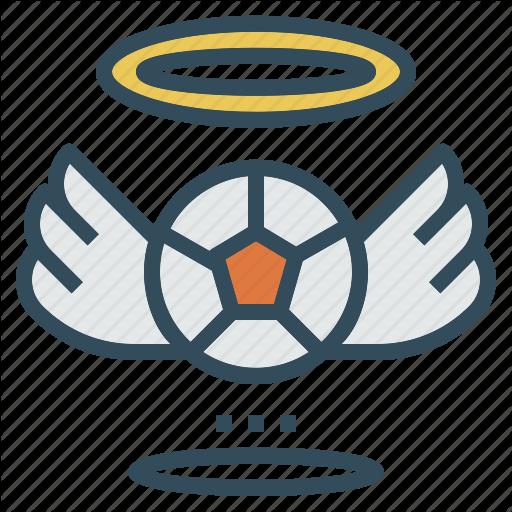 Angel, Badge, Ball, Football, Halo, Wing Icon