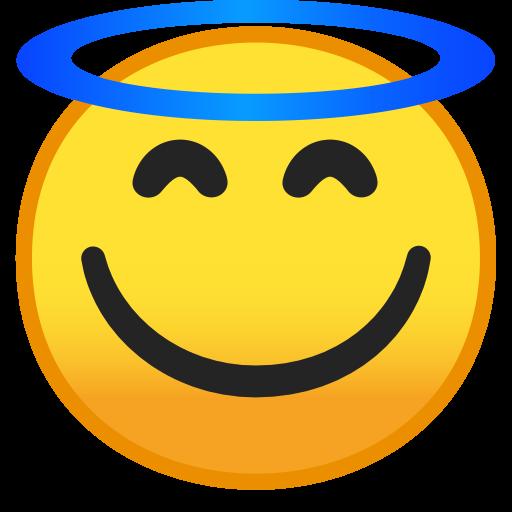 Smiling Face With Halo Icon Noto Emoji Smileys Iconset Google
