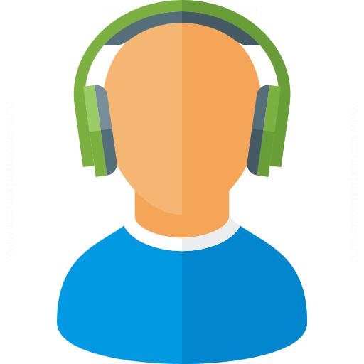 Iconexperience G Collection User Headphones Icon