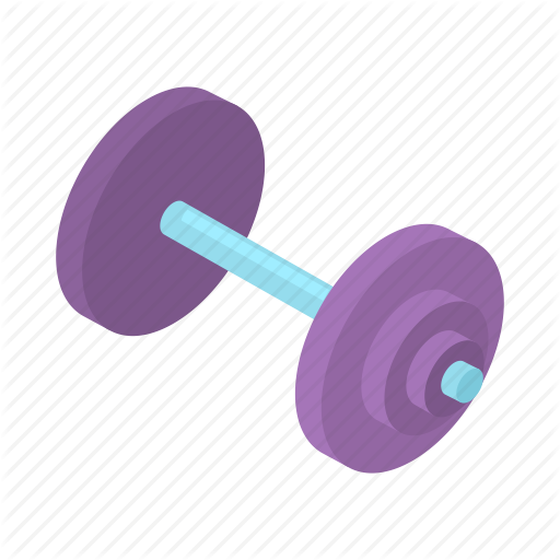 Athletic, Cartoon, Dumbbell, Equipment, Exercise, Gym, Health Icon
