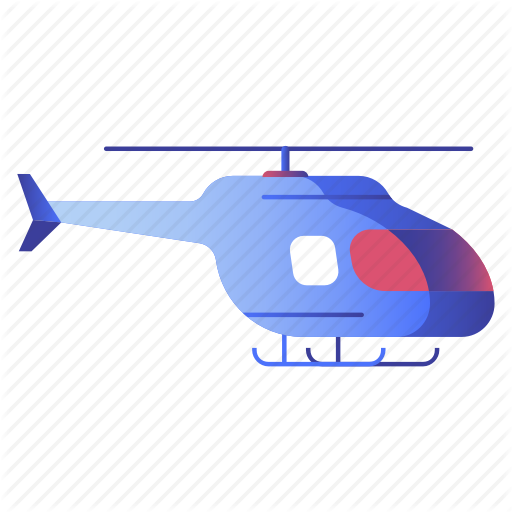 Aircraft, Chopper, Helicopter, Transportation, Travel Icon