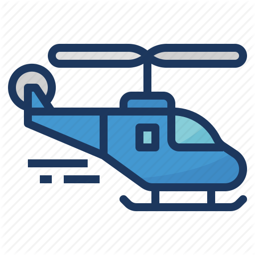 Chopper, Helicopter, Transportation Icon