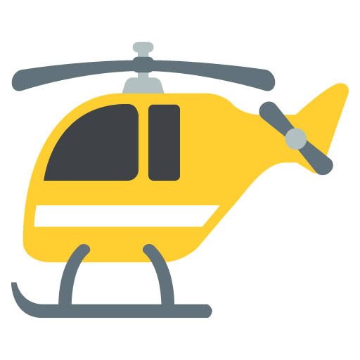 Helicopter Emoji For Facebook, Email Sms Id