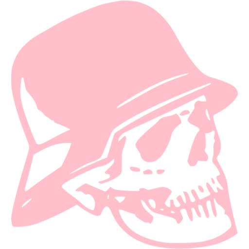 Pink Skull Icon