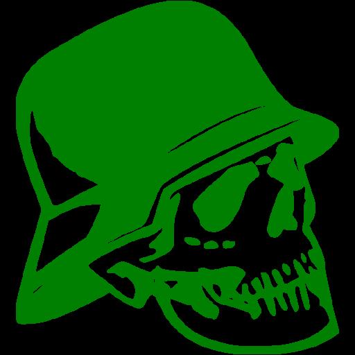Green Skull Icon