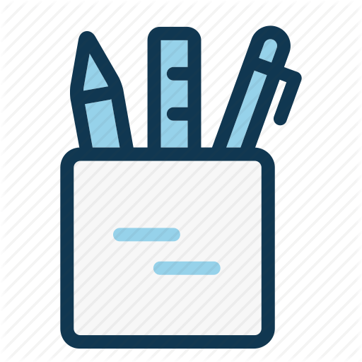 Drawing, Holder, Liner, Office, Pen, Pencil, Stationery Icon