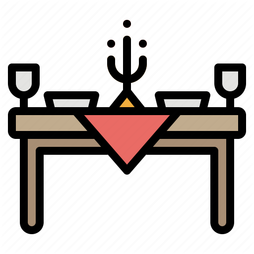 Chair, Dinner, Furniture, Restaurant, Table Icon