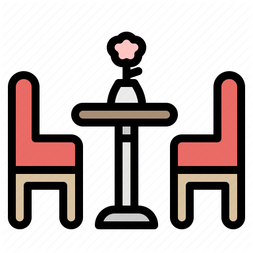 Chairs, Household, Kitchen, Restaurant, Table Icon