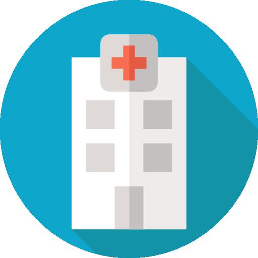 Medical Flat Hospital Set Icon
