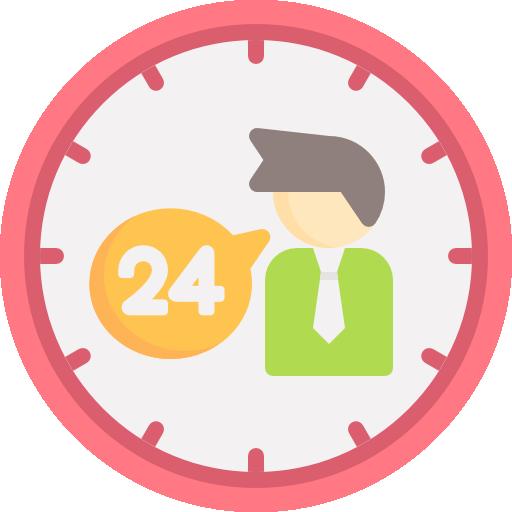 Hours Icon Contact Us Freepik