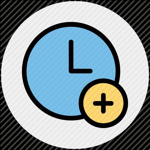 Add, Alarm, Circle, Clock, Hours, Plus Icon