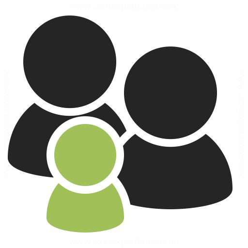 Users Family Icon Iconexperience