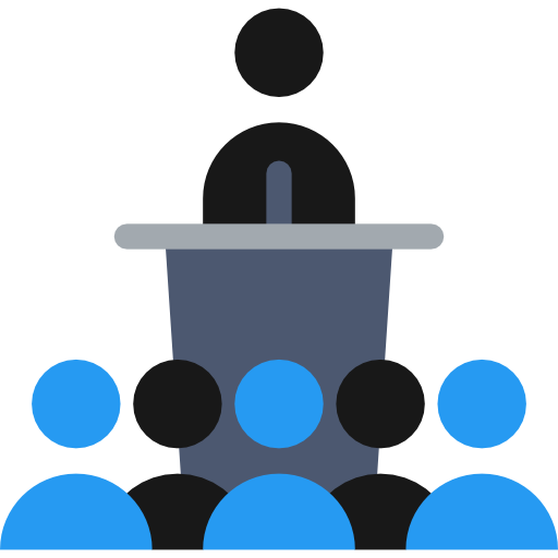 Conference Flat Icon