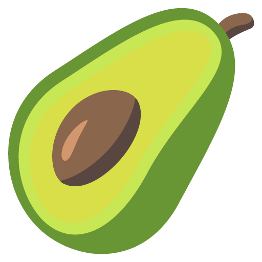 Avocado Emoji Vector Icon Free Download Vector Logos Art