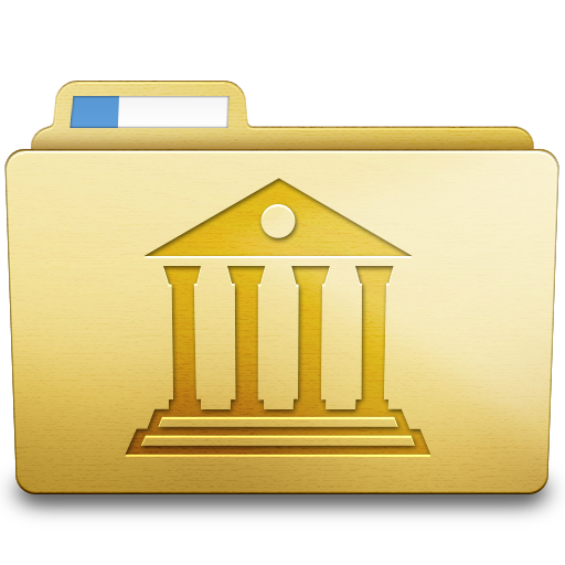 Yellow Library Icon