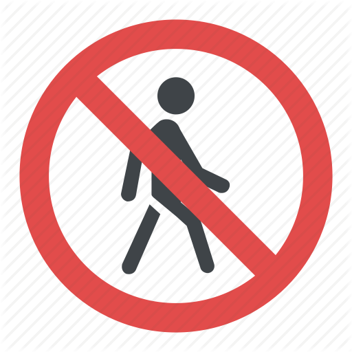 No Pedestrians, Road Instructions, Road Safety Symbol, Road Sign