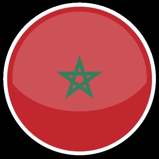 Morocco Icon Round World Flags Iconset Custom Icon Design