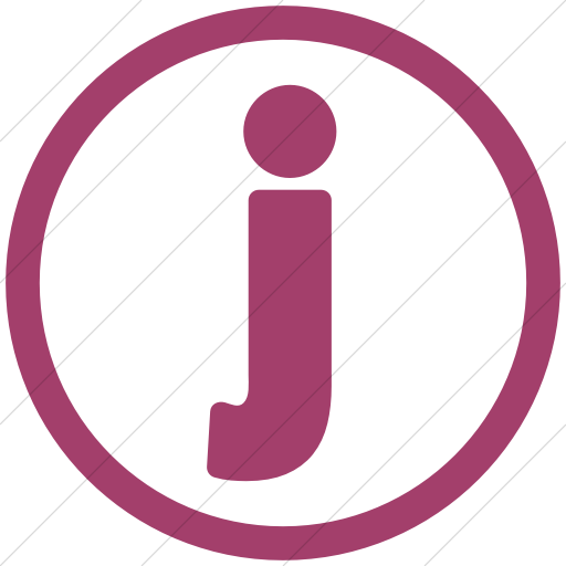 Simple Pink Encircled J Icon