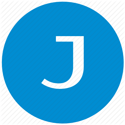 J, Key, Latin, Letter Icon