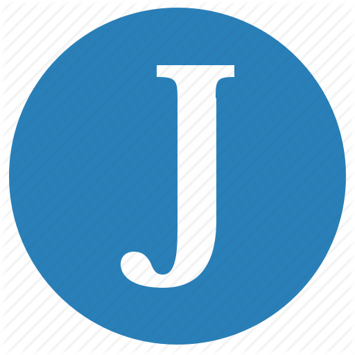 J, Keyboard, Latin, Letter, Round, Uppercase Icon