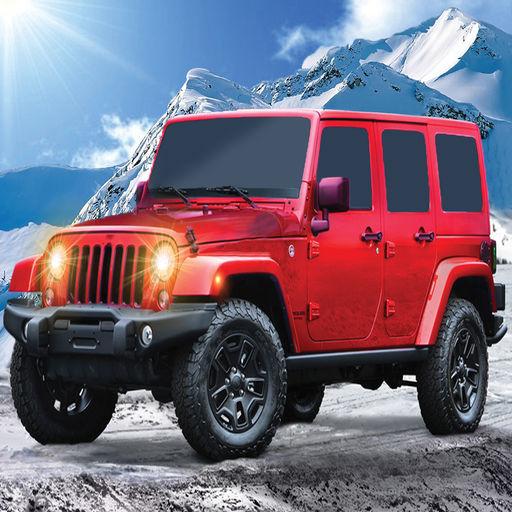 Offroad Mountain Prado Jeep Drive