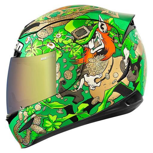 Icon Airmada Helmet In Lepricon Green Hfx Motorsports