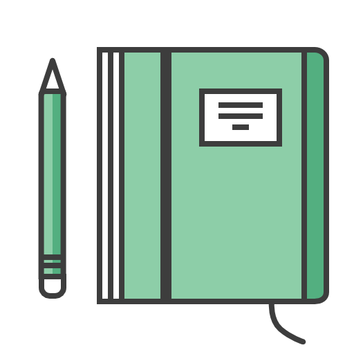 Agenda, Notes, Book, Pencil, Journal Icon Free Of Travel Kit