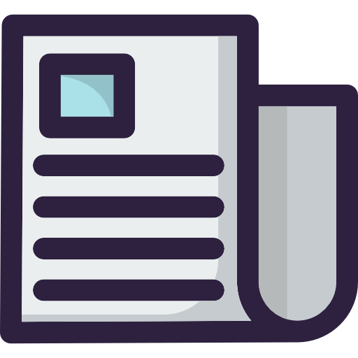 Journal, Interface, Communications, News, News Report, Newspaper Icon