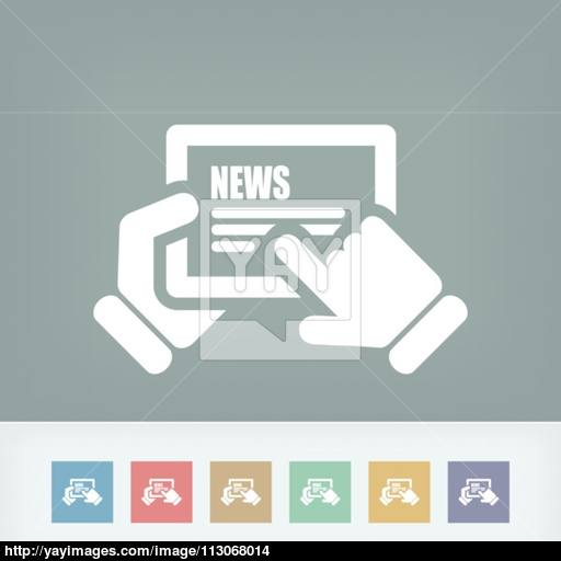 Web Journal Icon Vector