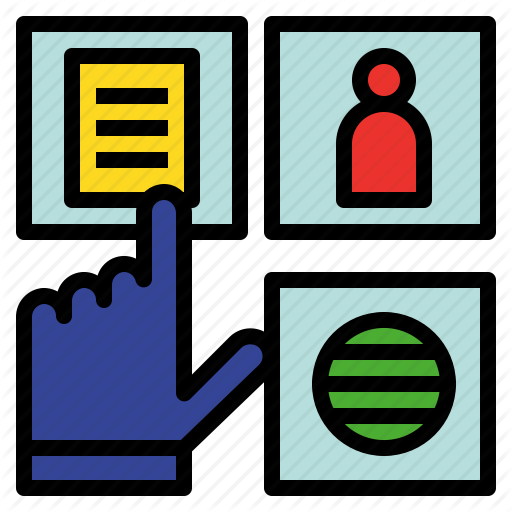 Click, Data, Facts, Information, Intelligence, Knowledge Icon