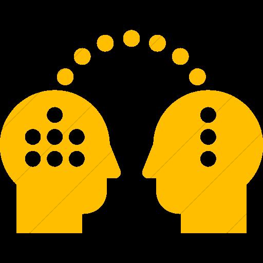 Simple Yellow Iconathon Knowledge Transfer Icon