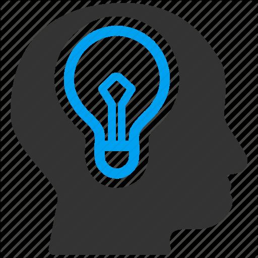 Brain, Bulb, Idea, L Mind, Power Icon