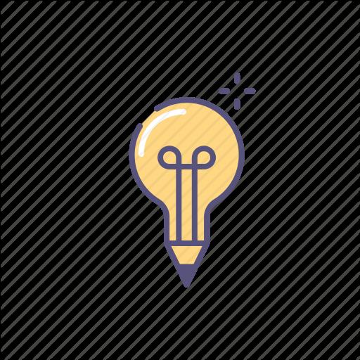 Buble, Idea, L Pencil, Write Icon