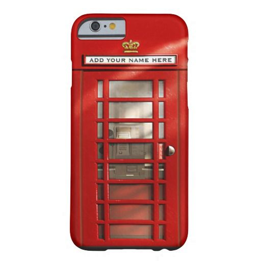 British Red Telephone Box Personalized Case Mate Iphone Case