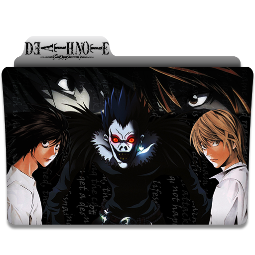 Death Note Anime Folder Icon