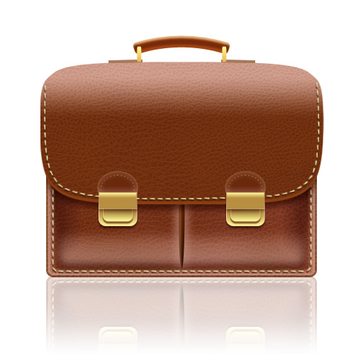 Create A Leather Textured, Realistic Briefcase Icon