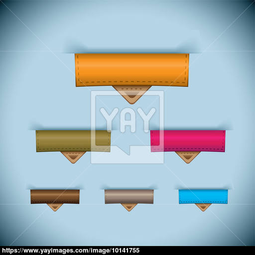 Paper Tab Icon Leather Tag Set Image