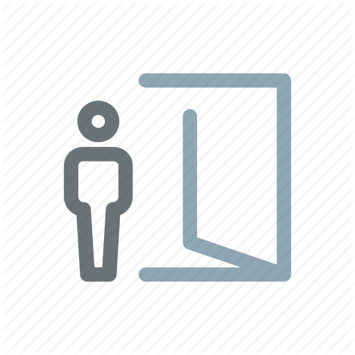 Access, Door, Enter, Exit, Leave, Login, Logout Icon