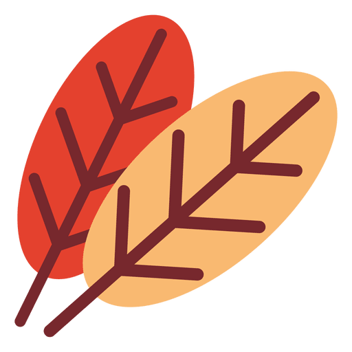 Flat Leaves Icon