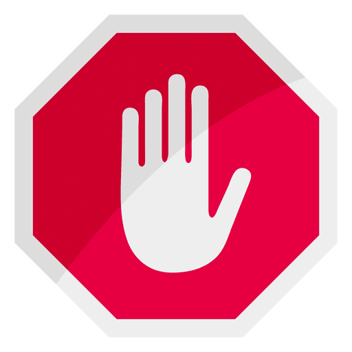 Stop Sign Icon Hand