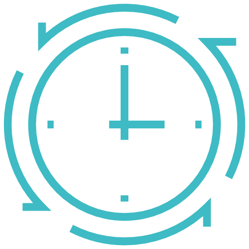 Clock, Time Icon Free Of Construction Project Minimalistic Line
