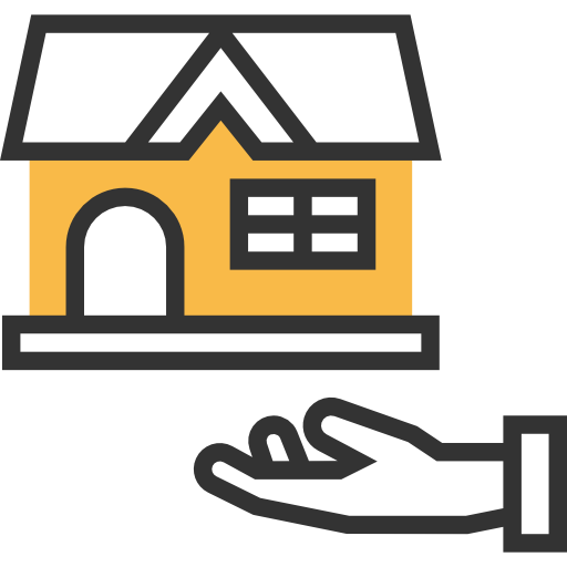 Real Estate, Business, Money, Property, Mortgage, Mortgage Loan Icon