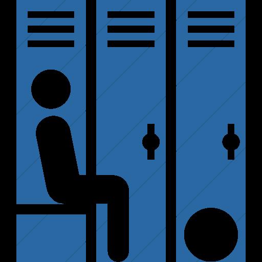 Simple Blue Iconathon Locker Room Icon