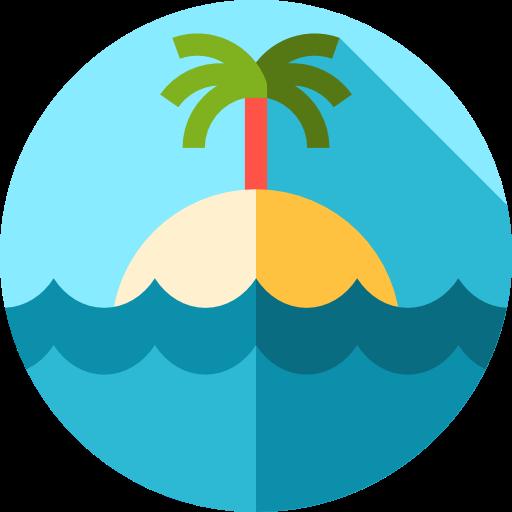 Beach, Nature, Island, Landscape, Sun Icon