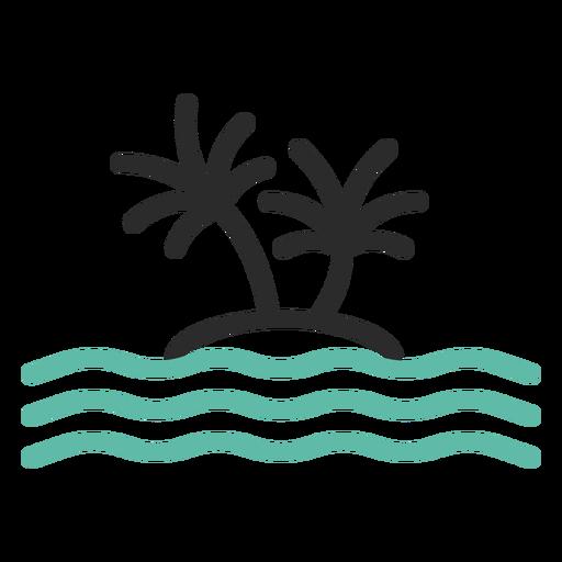 Lone Island Colored Stroke Icon