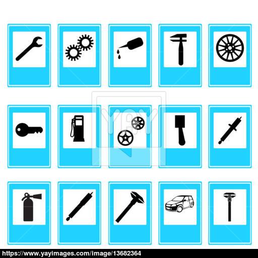 Auto Car Repair Service Icon Symbol Vector