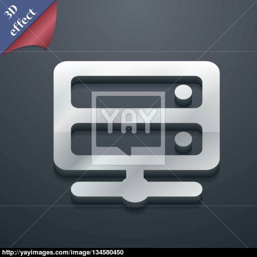 Server Icon Symbol Style Trendy, Modern Design With Space