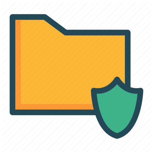 Folder, Protection, Security, Shield Icon