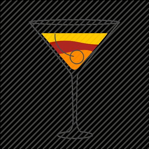 Alcohol, Beverage, Cocktail, Drink, Manhattan Icon